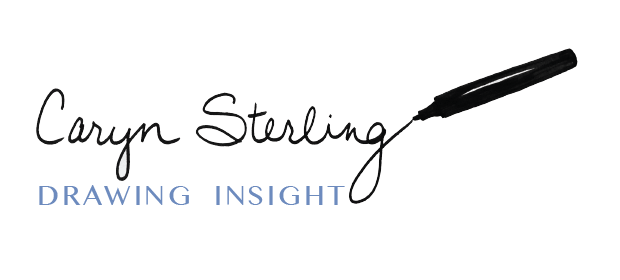 Drawing Insight Logo, Marker writing script font of name